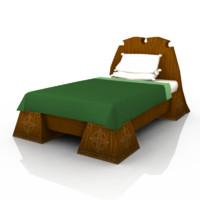 3d cartoon bed