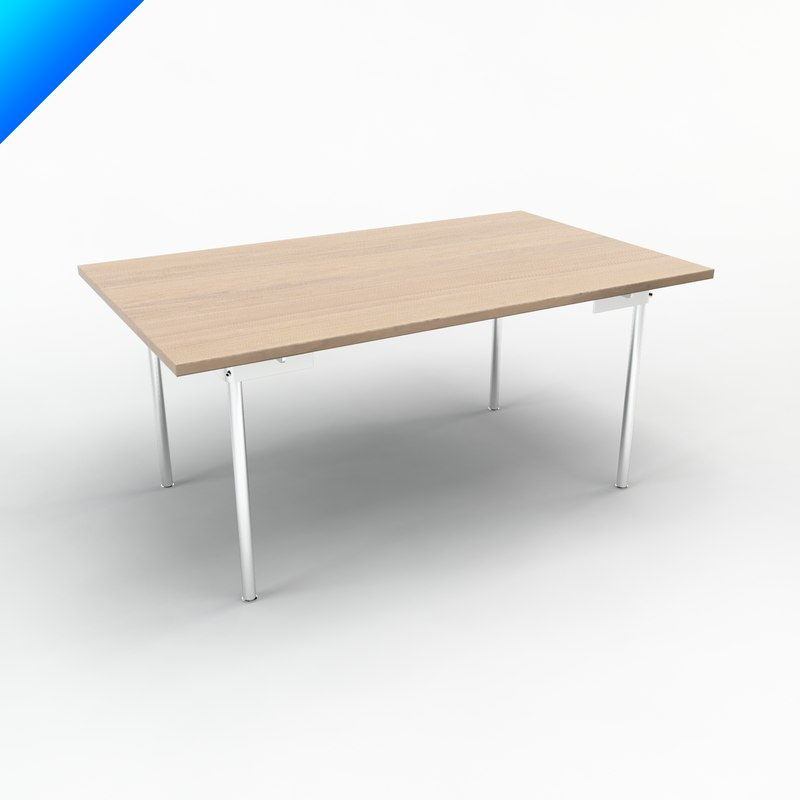 3d model ch316 table design hans wegner