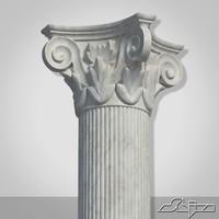 classical greek column 1 3d model