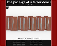 3d package interior doors model