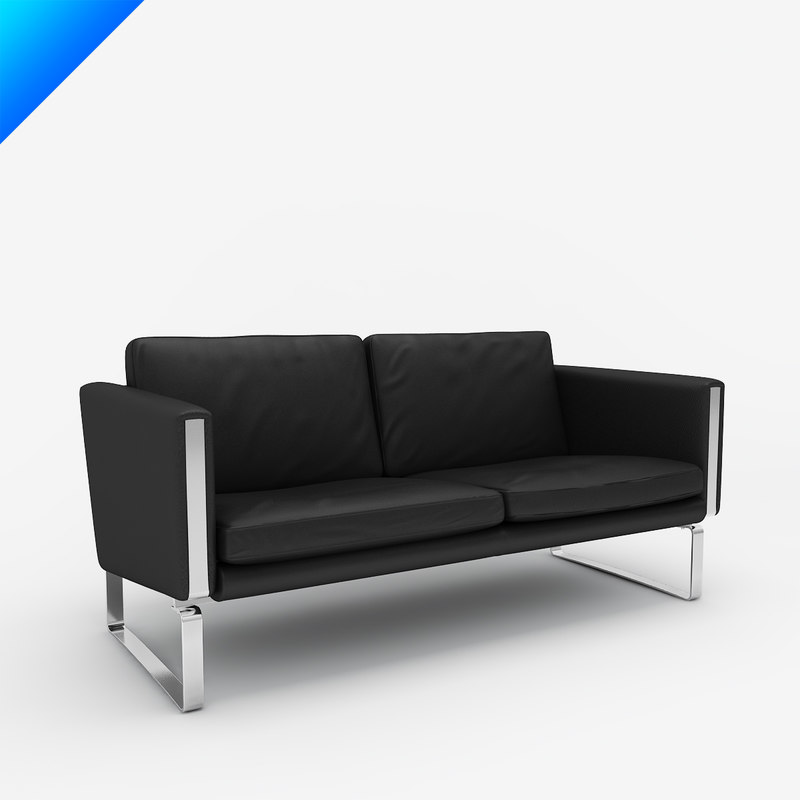ch102 sofa design hans wegner 3d model