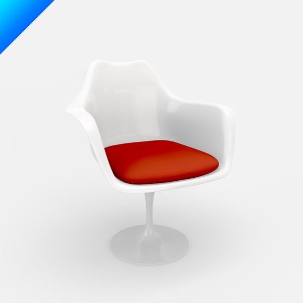 design chair tulip armchair 3d max