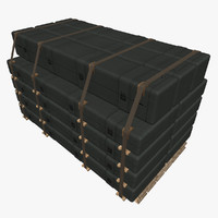 3d obj long case supply stack