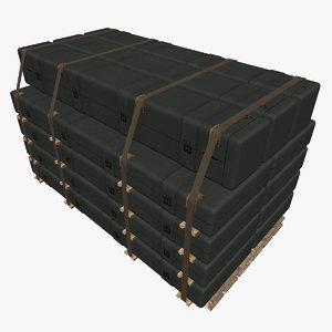 3d obj long case supply stack
