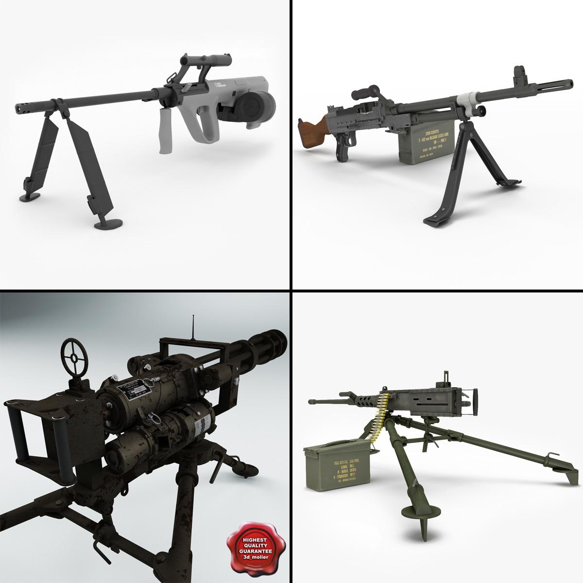 3d model of machine guns v1