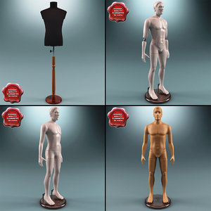 3ds max male mannequins