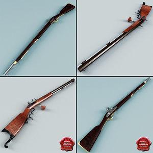 3d old muskets v2 model