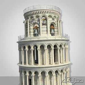 pisa leaning tower 3d max