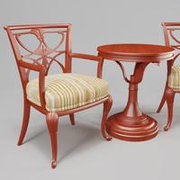 x hallway table chairs