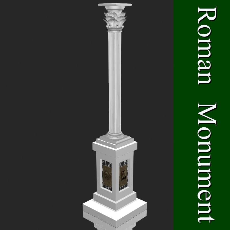 roman monument 3d lwo