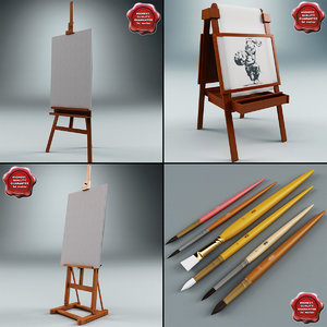 3ds max studio easels