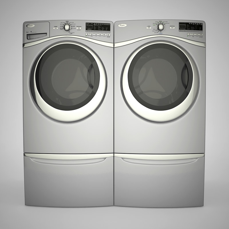 3d model washer dryer