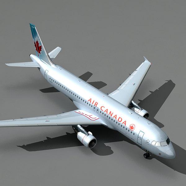 airbus a320 air canada 3d 3ds