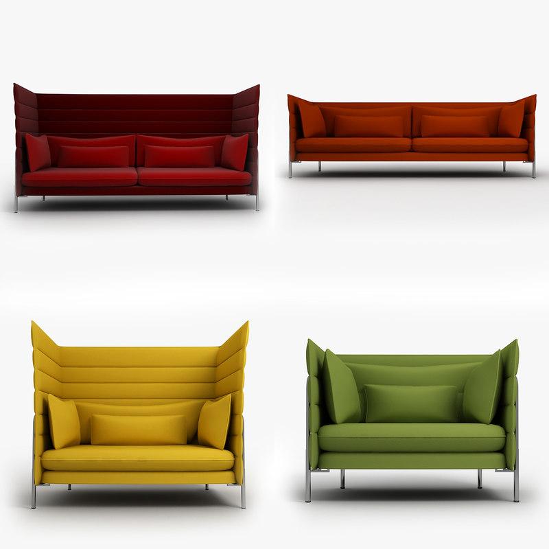 obj vitra alcove chair. Black Bedroom Furniture Sets. Home Design Ideas