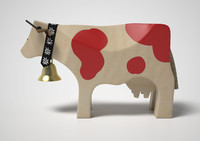 wooden cow 3d max