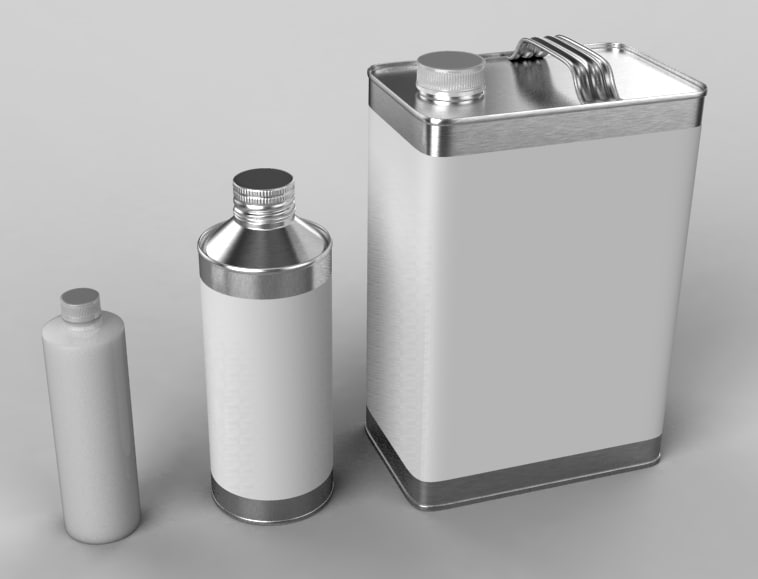cans paint thinners 3d obj
