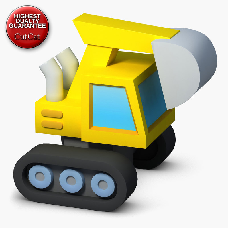 3d construction icons 04 excavator