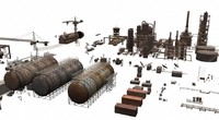 3d lwo rusty industrial structures