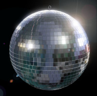 3d mirrored disco ball model