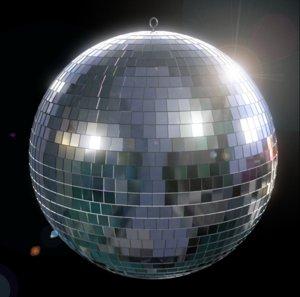3d mirrored disco ball model