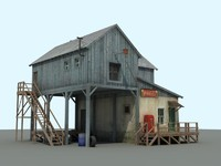 1950 old farm 3d obj