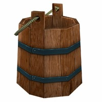wooden bucket obj