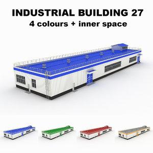3d model medium industrial building 27