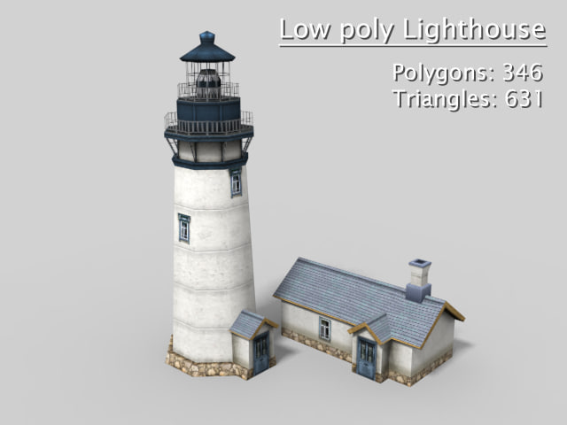 lighthouse polys max