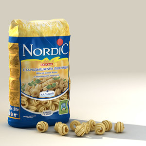 3d macaroni model