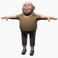 3d fat child model