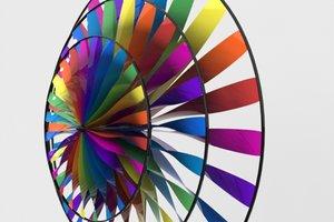 3d model modern pinwheel