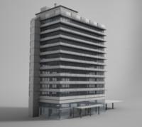 office building 3d obj