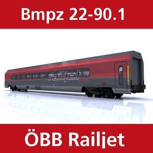 passenger train railjet 3ds