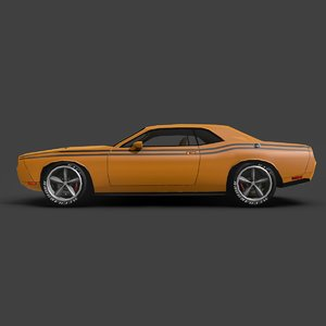 free dodge challenger str8 3d model