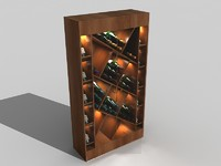 3d luxury wine closet