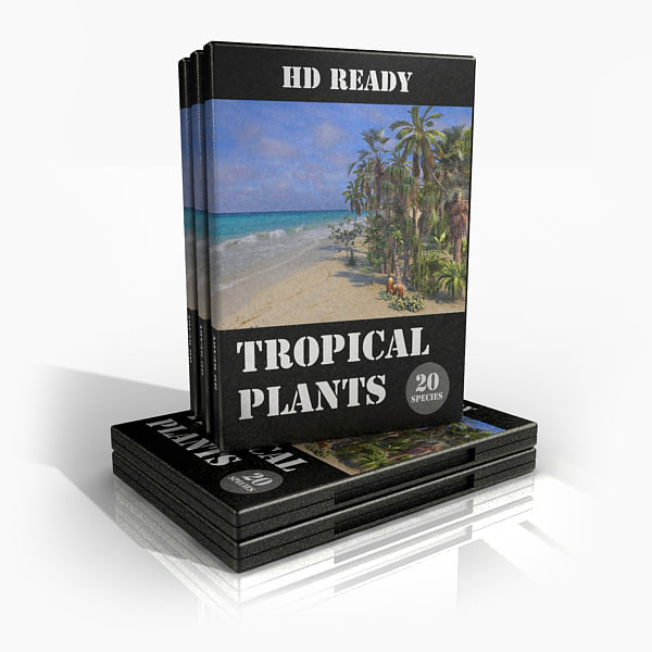 3d model pack tropical plants palm tree