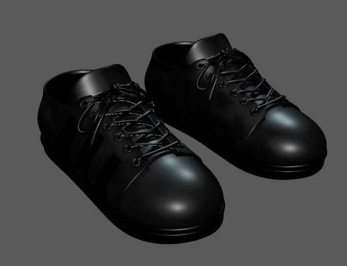 3dsmax shoe man