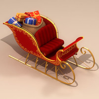 3d sleigh santa claus