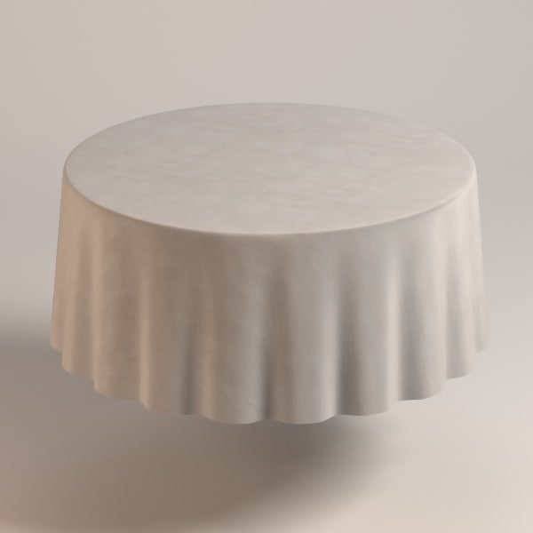 3d table cloth tablecloth model
