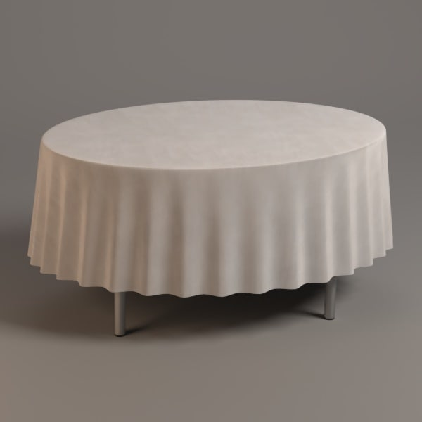 oval table 3d 3ds