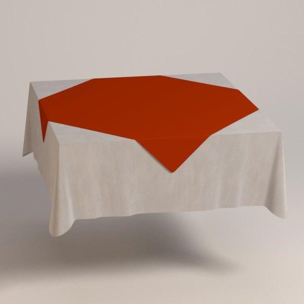 3ds max square tablecloth