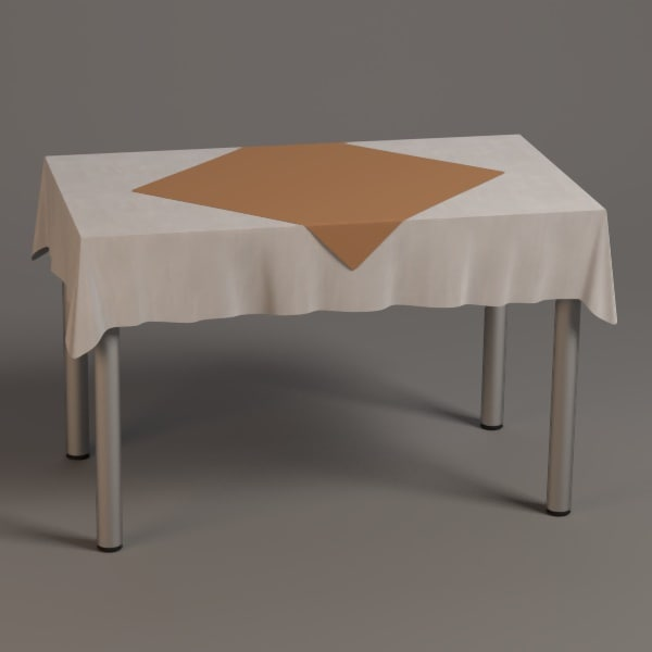 3ds max square table