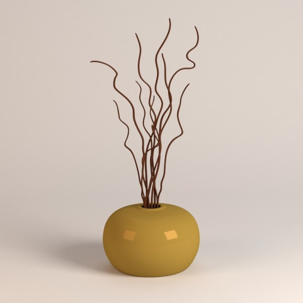 3d vase decoration