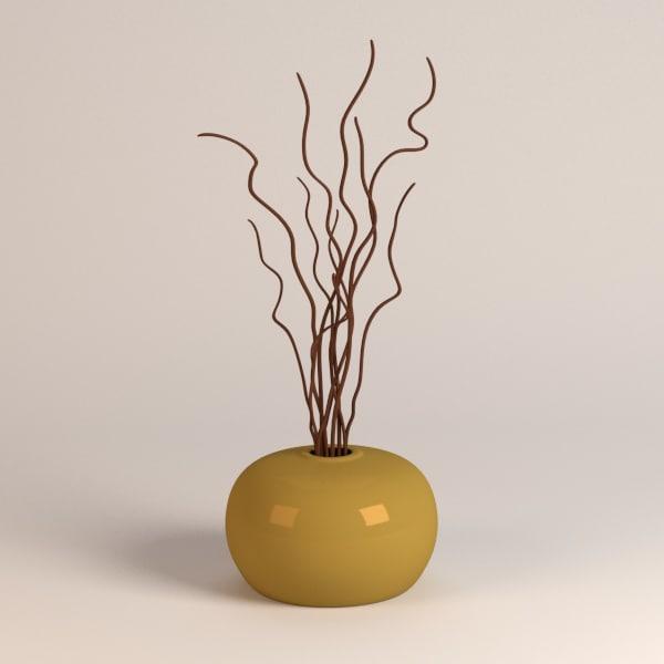 3d vase decoration for Vase de decoration interieur