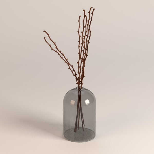 3d vase decoration