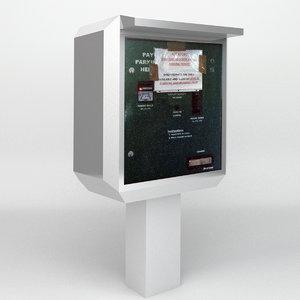 parking permit vending machine 3d obj