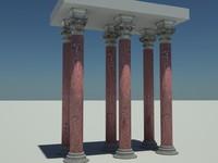 corinthian pillar columns 3d max