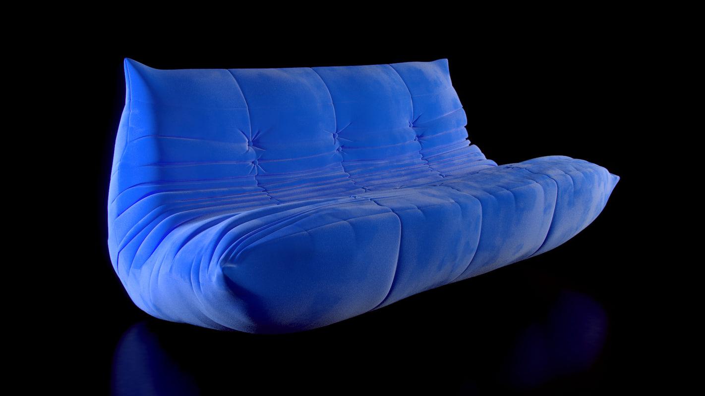 sofa - togo ligne roset 3d max