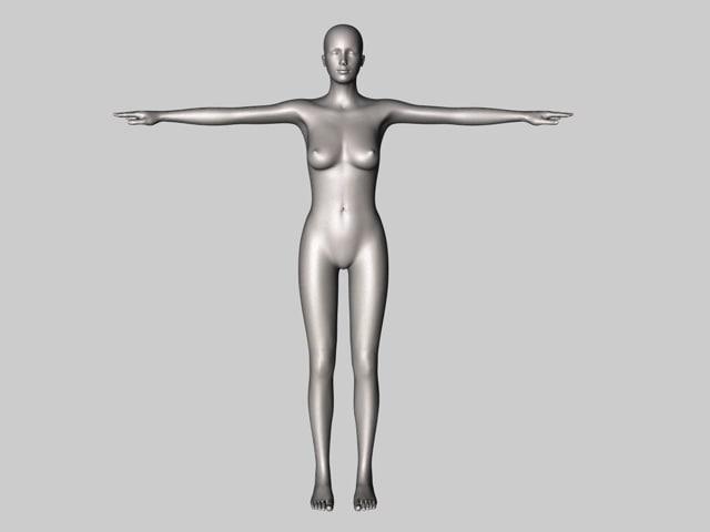 cinema4d mannequin dummy female