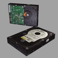 western hard disk 3d obj